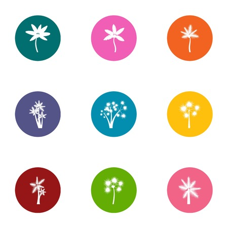 Florescence icons set. Flat set of 9 florescence vector icons for web isolated on white background Ilustração