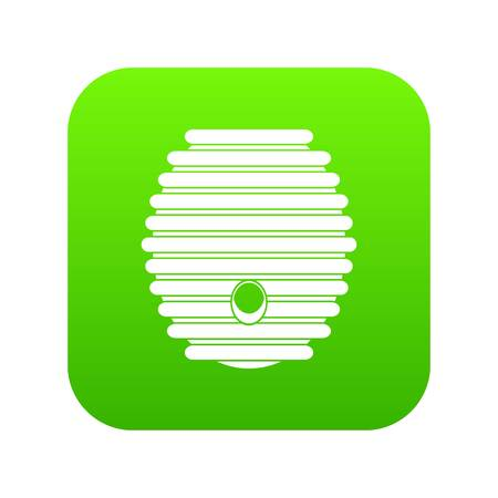 Beehive icon digital green for any design isolated on white vector illustration