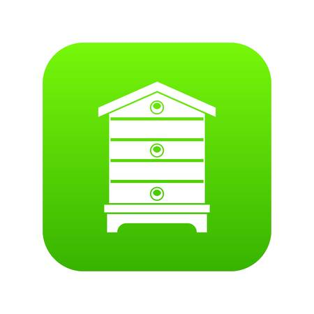 Hive icon digital green Ilustração