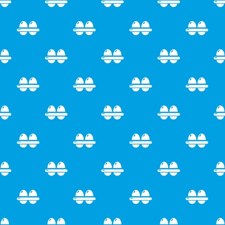 Eggs pattern vector seamless blue repeat for any use