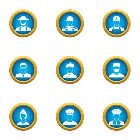 Beneficiary icons set. Flat set of 9 beneficiary vector icons for web isolated on white background