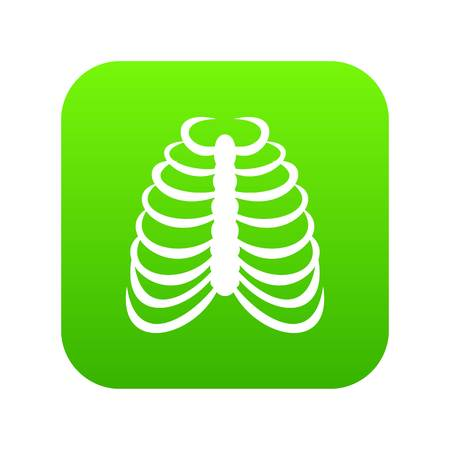 Rib cage icon digital green