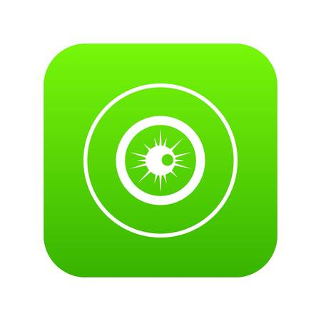 Eye icon digital green for any design isolated on white vector illustration