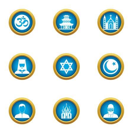 Assumption icons set, flat style