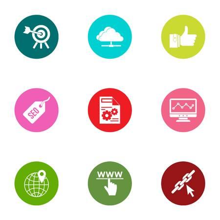 Streamline icons set. Flat set of 9 streamline vector icons for web isolated on white background