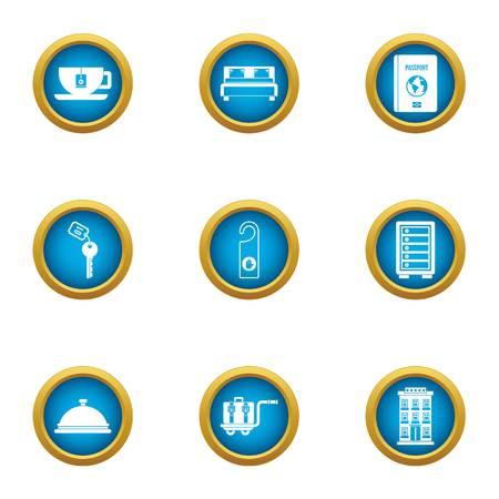 Pilgrimage icons set. Flat set of 9 pilgrimage vector icons for web isolated on white background