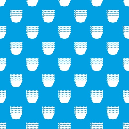 Baking molds pattern vector seamless blue repeat for any use Illustration