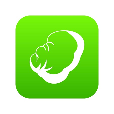 Spleen icon digital green Illustration