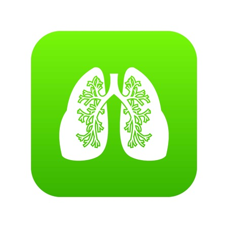 Lungs icon digital green