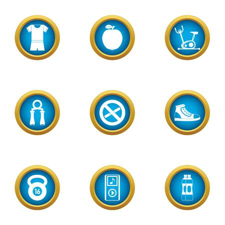 Mode of existence icons set. Flat set of 9 mode of existence vector icons for web isolated on white background Illusztráció