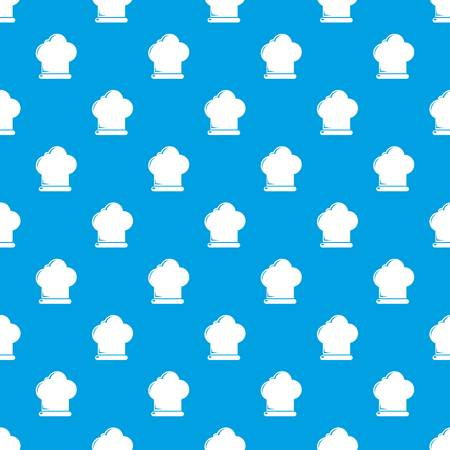 Chef hat pattern vector seamless blue repeat for any use Ilustração