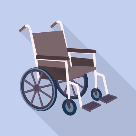 Medical wheelchair icon. Flat illustration of medical wheelchair vector icon for web design Illustration