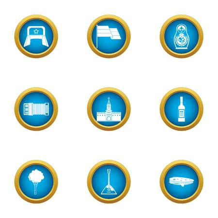 Mannerism icons set. Flat set of 9 mannerism vector icons for web isolated on white background