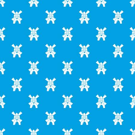 Windmill pattern vector seamless blue repeat for any use