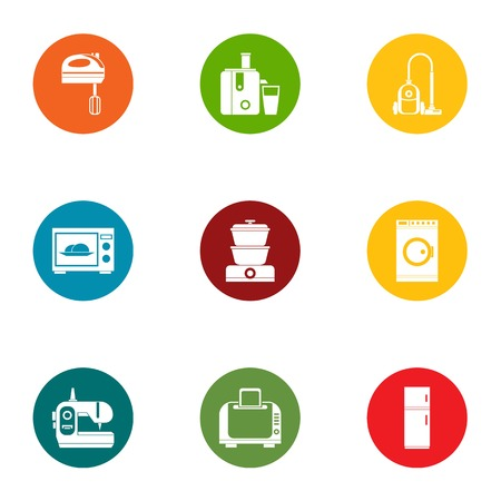 Technical aid icons set. Flat set of 9 technical aid vector icons for web isolated on white background  イラスト・ベクター素材