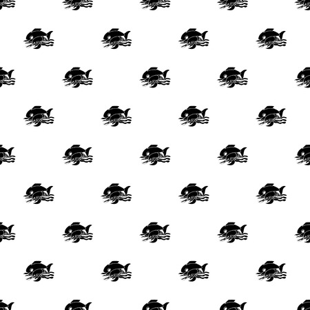 Sea food pattern vector seamless repeating for any web design