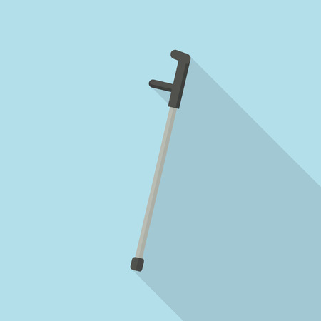 Elbow crutch icon. Flat illustration of elbow crutch vector icon for web design