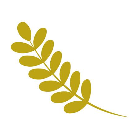 Ash tree leaf icon. Flat illustration of ash tree leaf vector icon for web design