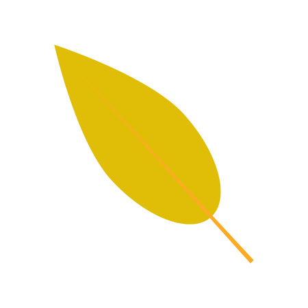 Willow leaf icon. Flat illustration of willow leaf vector icon for web design Stock Illustratie