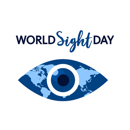 World sight day concept background. Flat illustration of world sight day vector concept background for web design