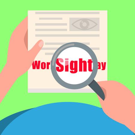 Sight day concept background. Flat illustration of sight day vector concept background for web design