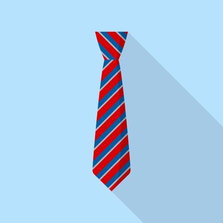 Elegant tie icon. Flat illustration of elegant tie vector icon for web design