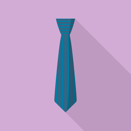 Striped tie icon. Flat illustration of striped tie vector icon for web design Illusztráció