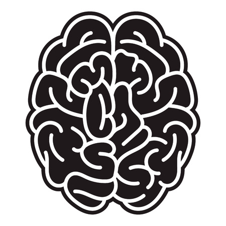 Brain mind icon. Simple illustration of brain mind vector icon for web design isolated on white background Stock Illustratie