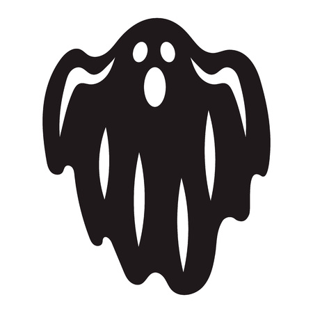 Halloween ghost icon. Simple illustration of halloween ghost vector icon for web design isolated on white background