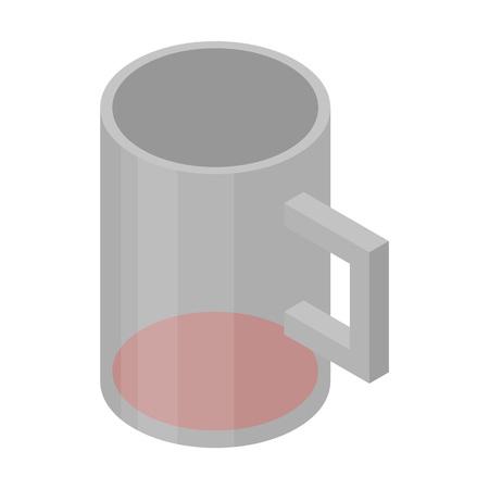 Wine mug icon. Isometric of wine mug vector icon for web design isolated on white background