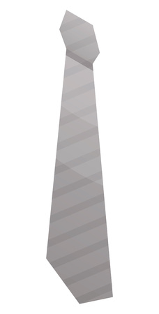 Grey tie icon. Isometric of grey tie vector icon for web design isolated on white background