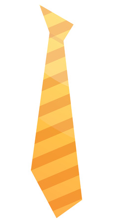 Striped yellow tie icon. Isometric of striped yellow tie vector icon for web design isolated on white background Illustration