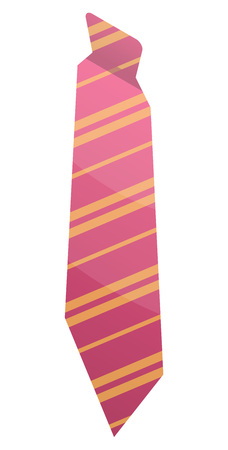 Pink striped tie icon. Isometric of pink striped tie vector icon for web design isolated on white background