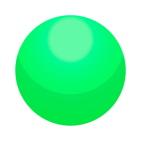 Green candy ball icon. Isometric of green candy ball vector icon for web design isolated on white background Illustration