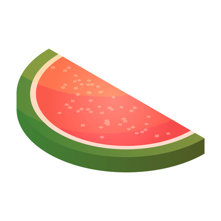 Candy jelly watermelon icon. Isometric of candy jelly watermelon vector icon for web design isolated on white background