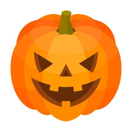 Halloween-Kürbis-Symbol. Isometrische der Halloween-Kürbis-Vektorikone für das Webdesign lokalisiert auf weißem Hintergrund