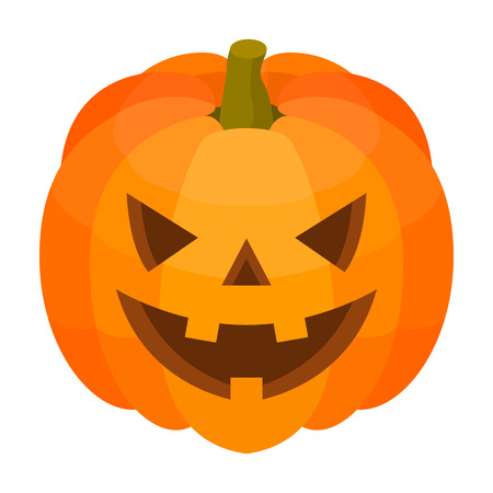 Halloween pumpkin icon. Isometric of halloween pumpkin vector icon for web design isolated on white background