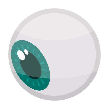 Halloween eye icon. Isometric of halloween eye vector icon for web design isolated on white background