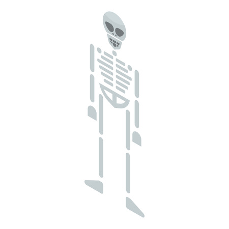 Skeleton icon. Isometric of skeleton vector icon for web design isolated on white background