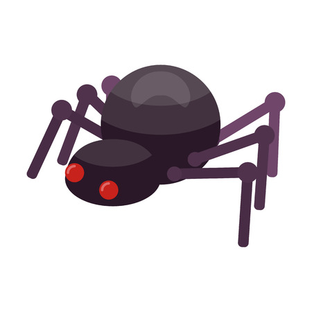 Spider icon. Isometric of spider vector icon for web design isolated on white background