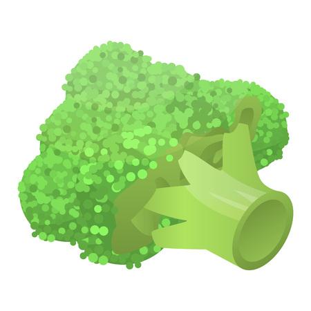 Fresh broccoli icon, isometric style Stock Illustratie