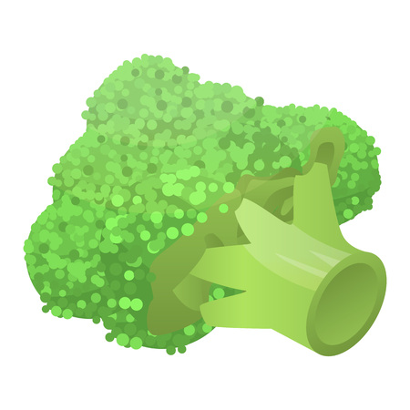 Fresh broccoli icon, isometric style Stock Illustratie