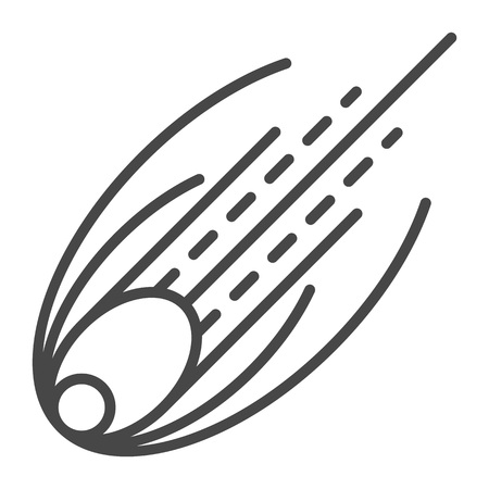 Comet icon, outline style Illustration