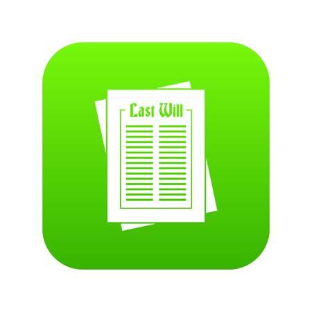 Will icon digital green Illustration