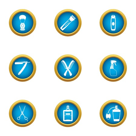 Clipping icons set. Flat set of 9 clipping vector icons for web isolated on white background