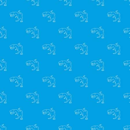 Dinosaur tyrannosaur pattern vector seamless blue repeat for any use