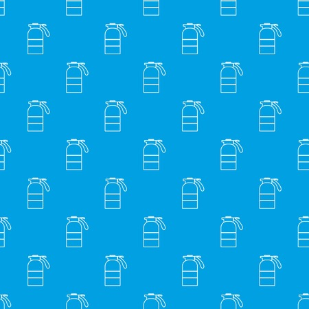 Sprayer container pattern vector seamless blue repeat for any use Stock Illustratie