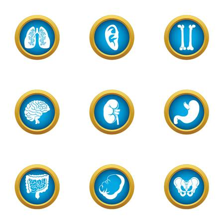 Health insurance icons set. Flat set of 9 health insurance vector icons for web isolated on white background