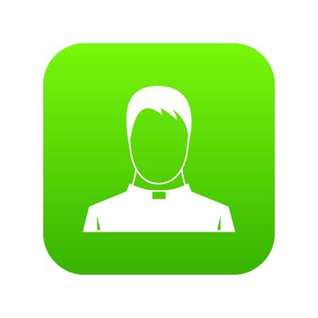 Priest icon digital green for any design isolated on white vector illustration