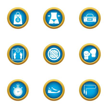 Gambol icons set. Flat set of 9 gambol vector icons for web isolated on white background